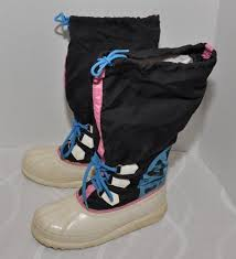womens boots size 9 vintage 90 s sorel neon logo boots womens size 9 winter