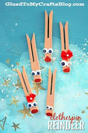 reindeer clothespin ornaments kid craft glued to my crafts