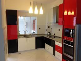 Red Kitchen Cabinets Kitchen Cabinet At Bukit Antarabangsa Ampang Red Black White