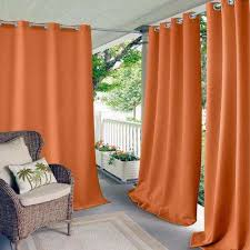 Orange And Brown Curtains Orange Curtains Drapes Window Treatments The Home Depot