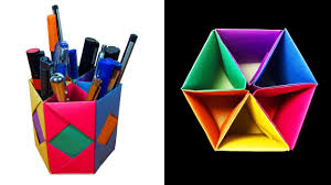 cool pen holders how to make a beautiful pen pencil container or stand with 6
