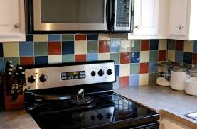 painting kitchen backsplash before after painting kitchen backsplash tile blue tile backsplash