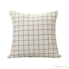 Outdoor Furniture Cushions Covers by 2017 Home Pillow Covers Cotton Khaki Cushion Mesh Design