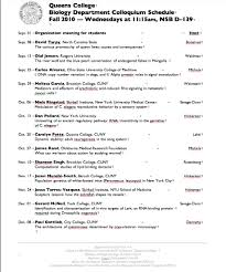 Examples Of Resume Titles by Colloquium Queens College Department Of Biology U2013 City