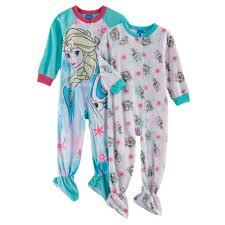 frozen elsa olaf toddler 2 pk fleece footed pajamas