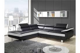 canape d angle noir et blanc canapé design d angle studio cuir pu noir canapés d angle
