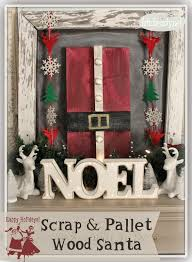 art is beauty use what you have pallet wood santa art