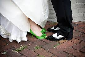 wedding shoes green inspiration colorful wedding shoes united with