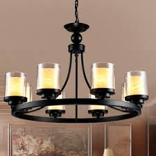 Candle Chandelier Lighting Black Wrought Iron Chandelier Candle Chandeliers