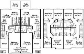 two story duplex house plans homes zone