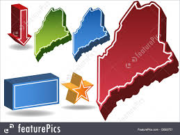 State Of Maine Map by Illustration Of Maine Map