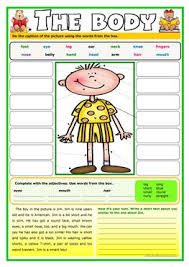 120 free esl parts of the body worksheets