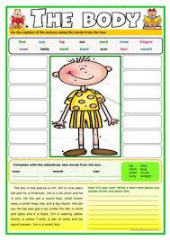 832 free esl body parts worksheets