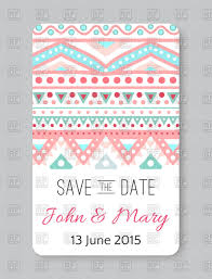 Save The Date Cards Free Ethnic Wedding Card Save The Date Vector Clipart Image 69646