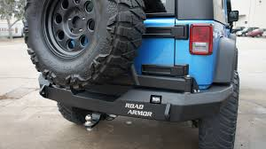 jeep rear bumper road armor jeep jk rear bumper with tire carrier strength proving