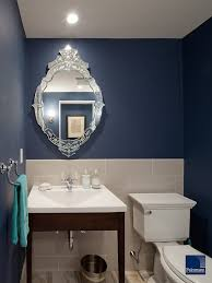 Powder Room Small Bathroom Design Pictures Remodel Decor And - Blue bathroom 2