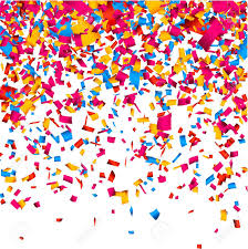 colorful celebration background with confetti vector background
