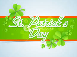 happy st patrick u0027s day background with hanging clover leaves and