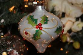 holly berry glass christmas ornament from melrose international