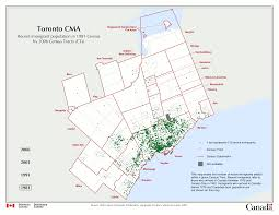 Map Of Toronto Canada by Map Of Recent Immigrants In Toronto 1981 Versus 2006 Restructure