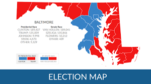 Baltimore Usa Map by How Did Maryland Counties Vote In The 2016 Presidential Election