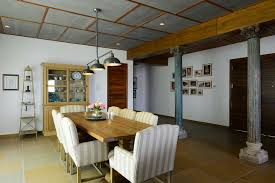 dining room with wooden table design by architect hameeda