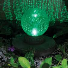 Gazing Ball Pedestals Smart Solar Crackled Glass Solar Powered Chameleon Gazing Ball