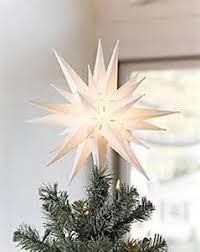 morovian light 12 moravian christmas tree topper or porch light by
