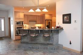 kitchen island wall decorating bar furniture ideas features gray tiles floor and