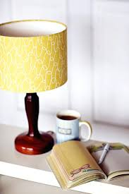 yellow lamp shades table lamps modern square table lamp wood light