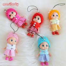 baby keychains 100pcs lot mix colorized doll keychains girl keyring toys