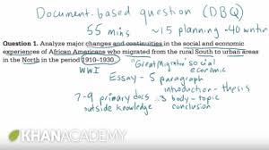 dbq sample essay ap us history dbq example 1 the historian s toolkit us history ap us history dbq example 1 the historian s toolkit us history khan academy