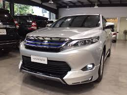 harrier lexus new model toyota harrier modellista bodykit rancon imports