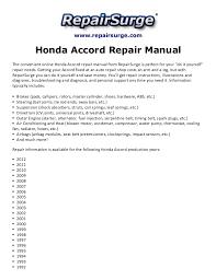 2004 honda accord owners manual pdf honda accord repair manual 1990 2012