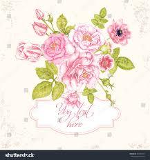 Discover Card Invitation Floral Card Invitation Vector Retro Victorian Stock Vector