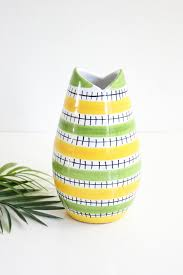 Striped Vase Sold Mid Century Modern Geometric Striped Vase Vintage Art