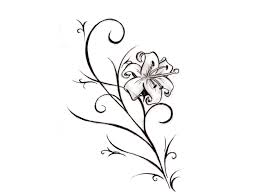 swirly calla lily tattoo stencil photo 3 photo pictures and