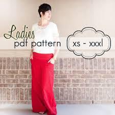 free pattern pajama pants ladies wideleg pants capris shorts xs xxxl sewing pattern