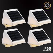 solar powered dusk to dawn light solar powered led stair light dusk to dawn outdoor step light