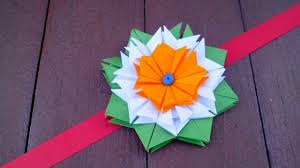 simple origami flower for rakhi bracelet greeting card home