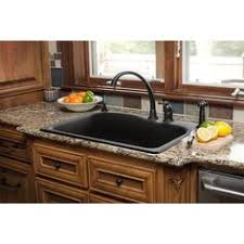 Composite Undermount Kitchen Sink by Black Granite Composite Sink With Kohler Oil Rubbed Bronze Faucet