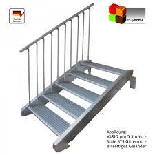 stahl treppe stahltreppe 13 stufen vario pro 600 feuerverzinkt