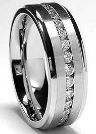 men wedding bands 7mm men s eternity titanium ring wedding band with cz size t 1 2