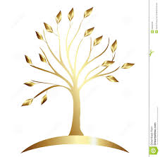 tree gold vector royalty free stock images image 23900129