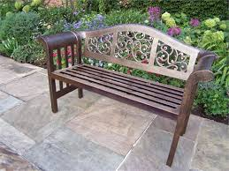 cast aluminum outdoor bench
