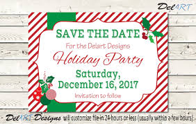 christmas party invite or save the date company dinner