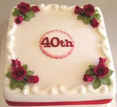 ruby wedding cakes 40th wedding anniversary cakes the wedding specialiststhe