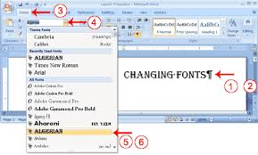 chagne ribbon microsoft word software