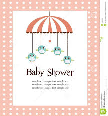 baby shower card for girls royalty free stock image image 13820596