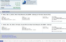 united airlines ticket change fee flights to or from tel aviv in united businessfirst round trip for